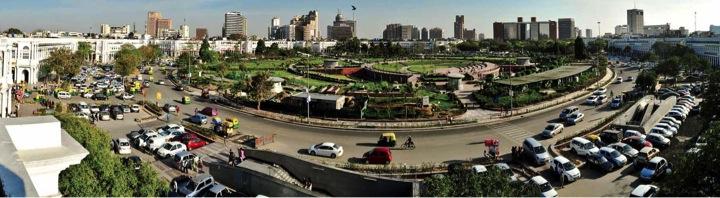 Conaught Place au centre de Delhi