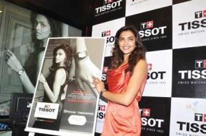 L'actrice indienne Deepika Padukone est l'égérie de la marque de montres Tissot
