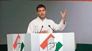 Rahul Gandhi, le vice-président du Congrès, lors d'une conférence de presse à New Delhi, en mars.