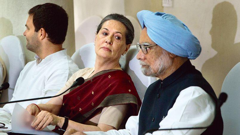 Manmohan Singh, Sonia Gandhi, Rahul Gandhi - Crédit photo: Manish Swarup/AP