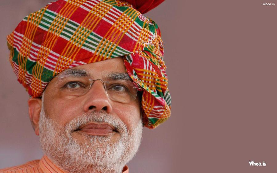 Narendra-Modi-In-Red-Turban